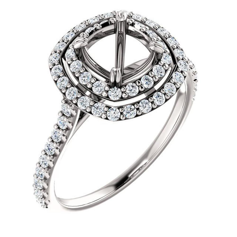 Engagement Rings Chicago: 0.48ctw Halo Engagement Ring 122087-439